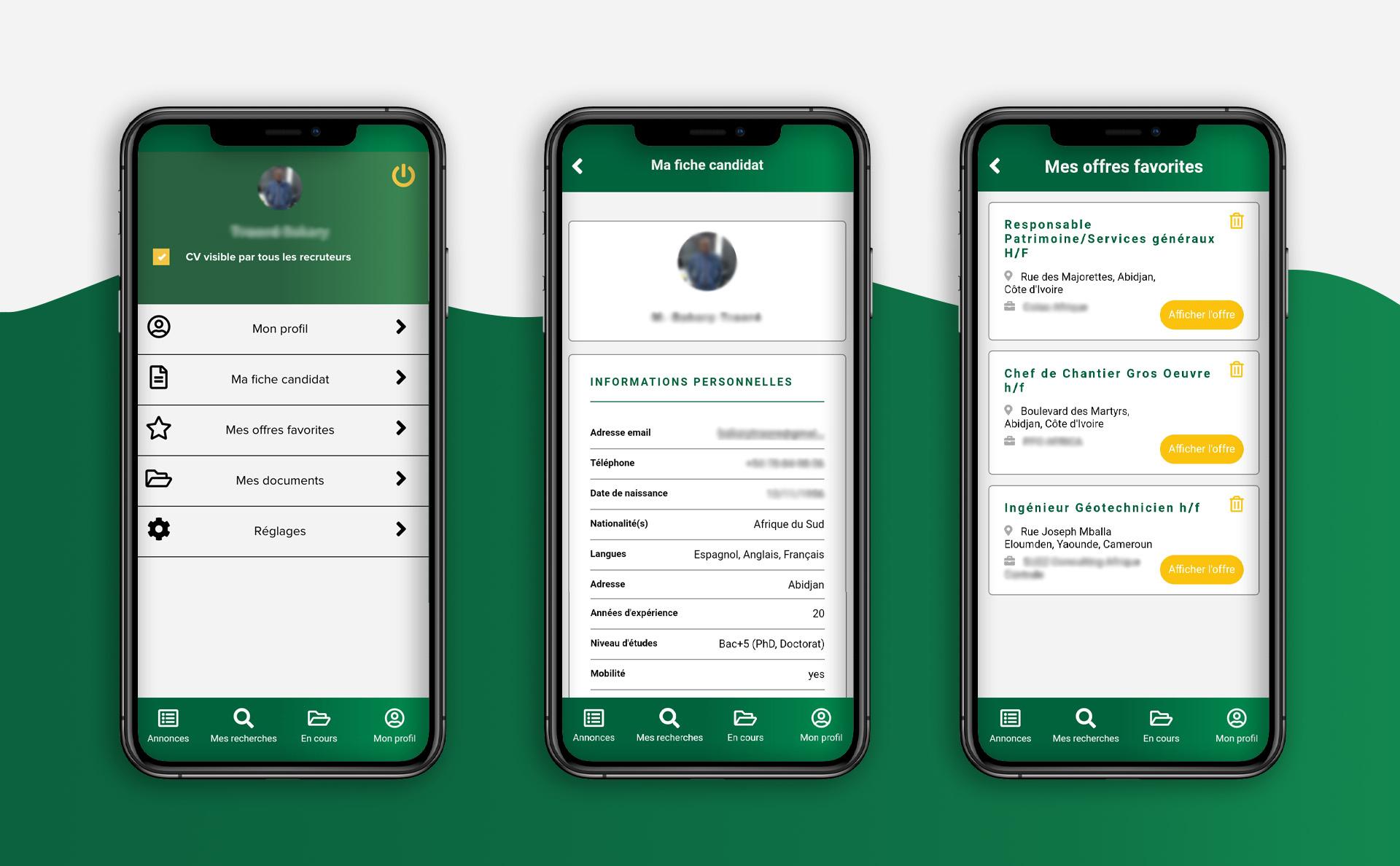 Nouvelle application mobile de la société Jobizer