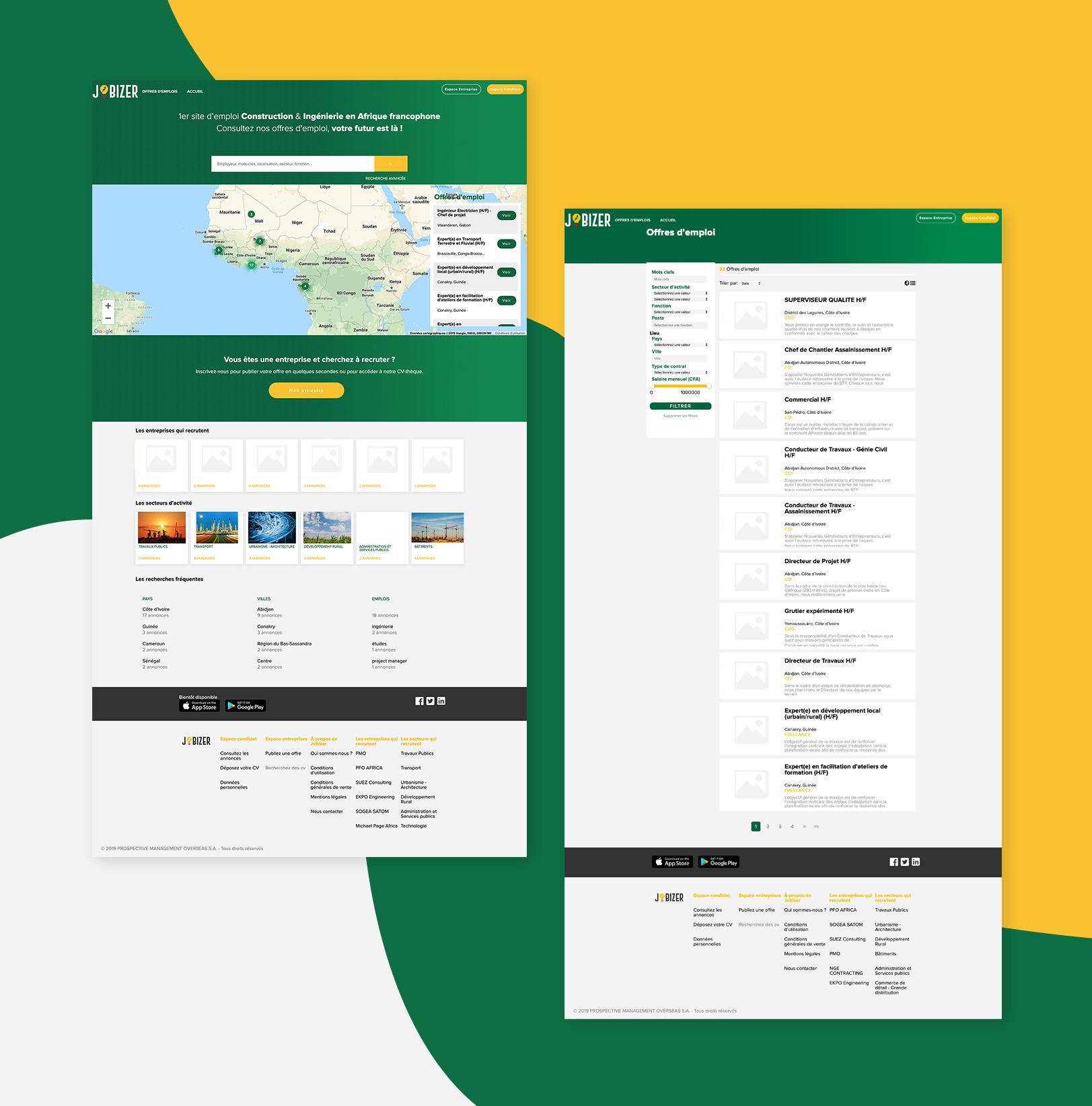 Nouveau site web de la société Jobizer