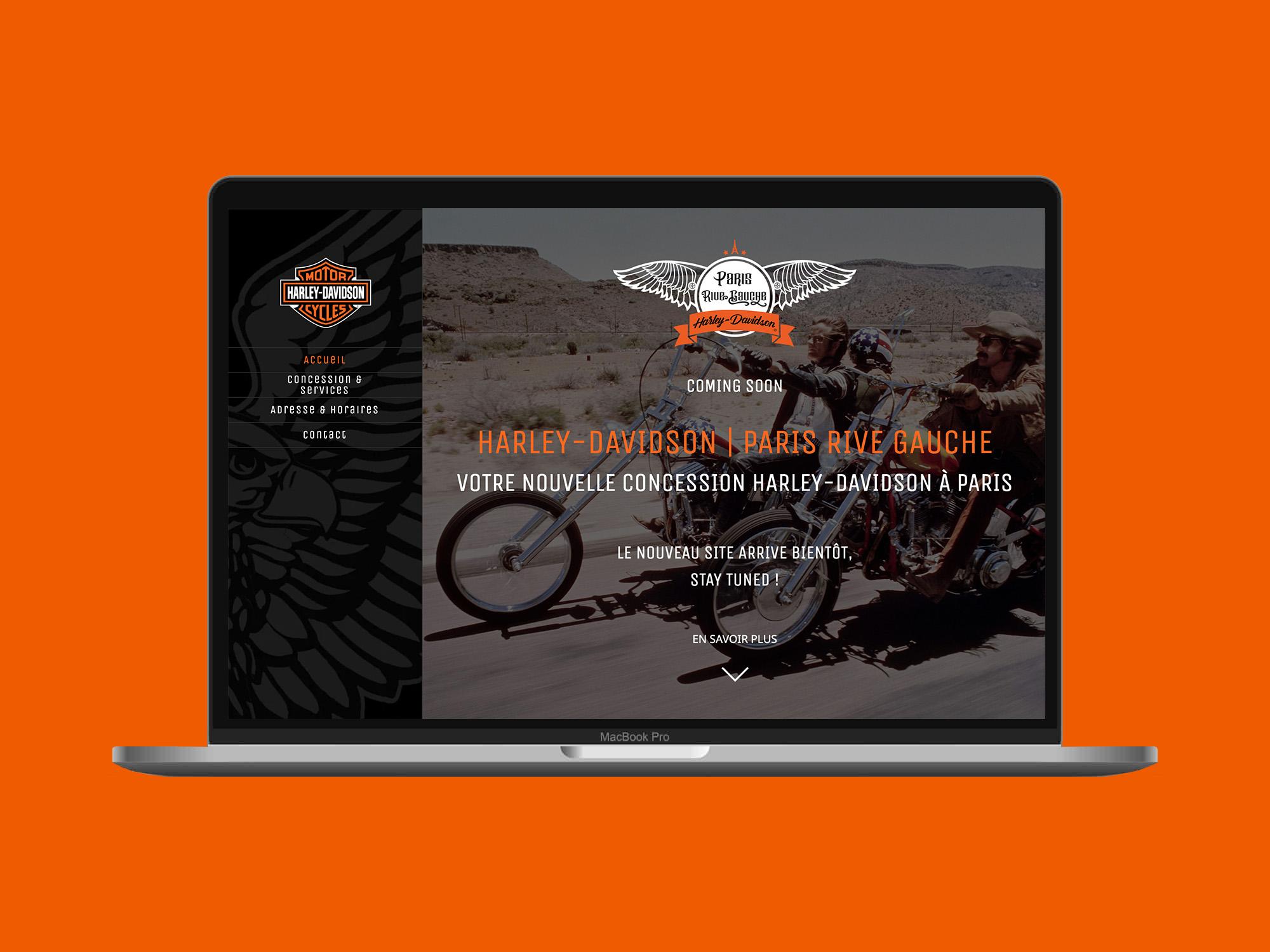 Nouveau site web de Harley Davidson