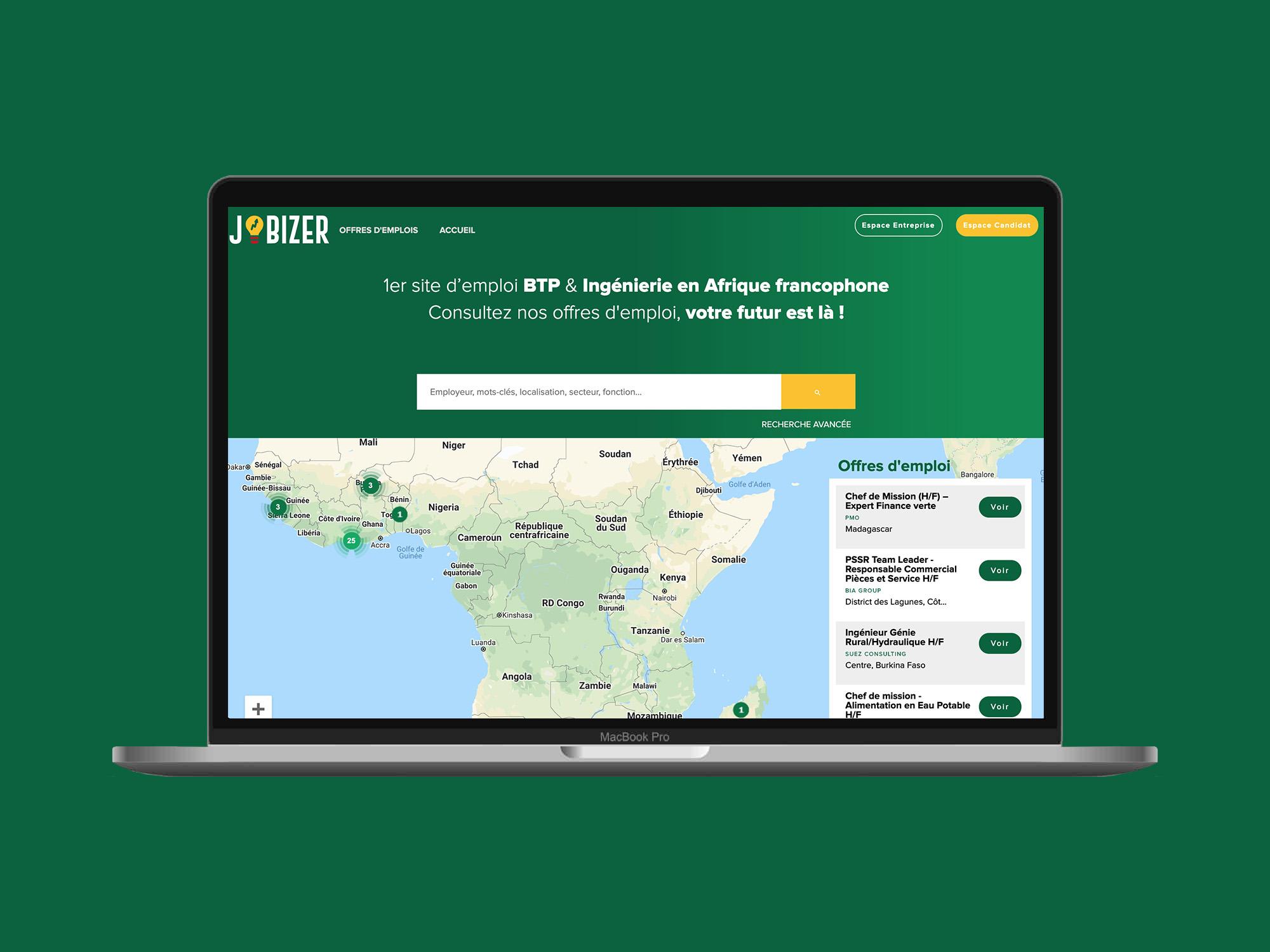 Nouveau site web de Jobizer