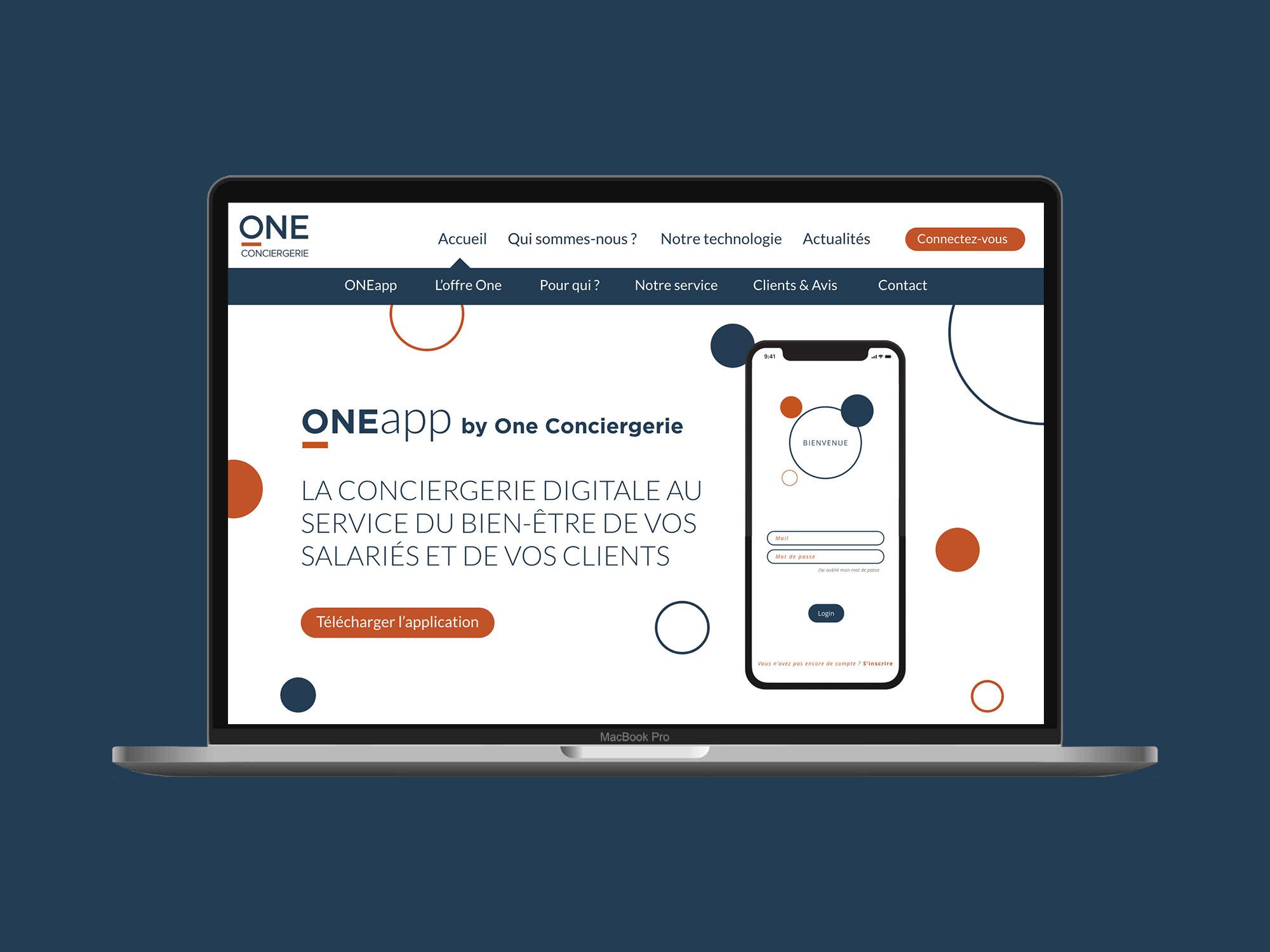 Nouveau site web de One Conciergerie