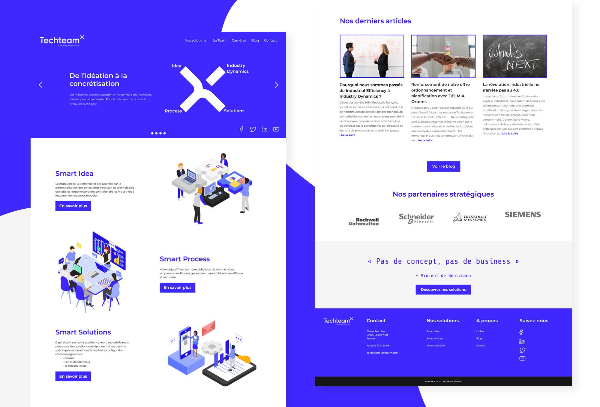 Nouveau site vitrine de Techteam