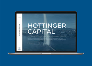 Home page du site internet Hottinger Capital