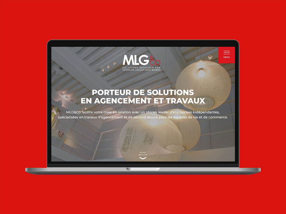 Home page du site internet MLG & Co